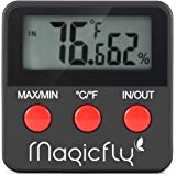 Magicfly Hygrometer and Thermometer for Egg Incubator, Reptile Tank / terrarium, Digital Indoor Temperature Gauge and Humidity Meter Monitor
