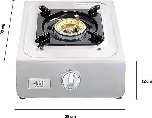 NJ ngb-100 portátil estufa de gas 1 quemador wok de acero inoxidable Piezo Camping al aire libre