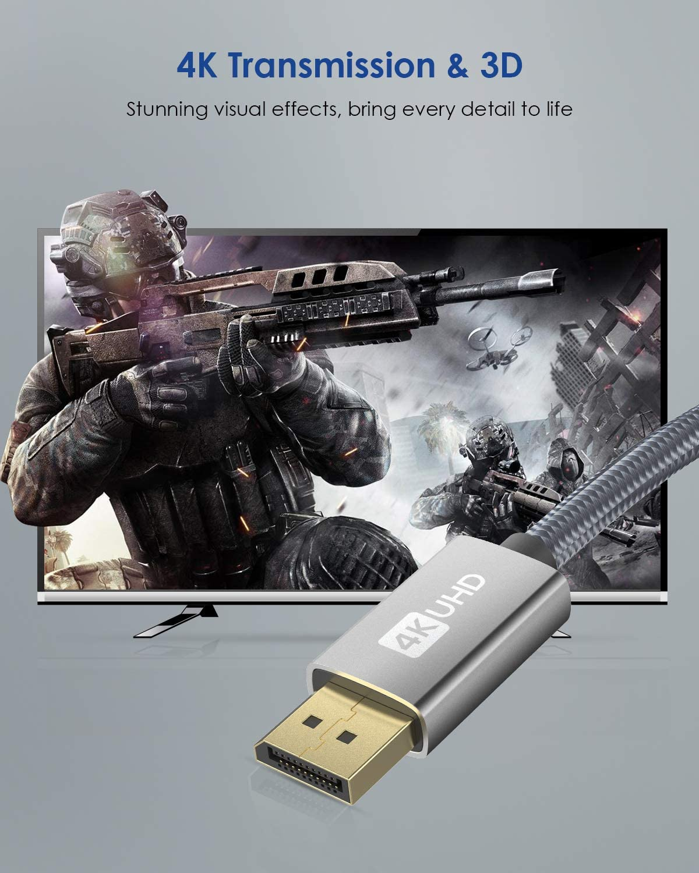 Silkland Cavo DisplayPort 3 m//grigio