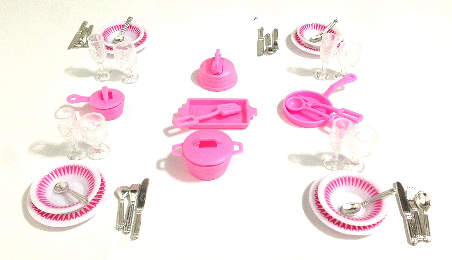 Gloria Dollhouse Furniture Accessories Plate Glasses Spoon Set zfinding SG/_B009WVDMKS/_US