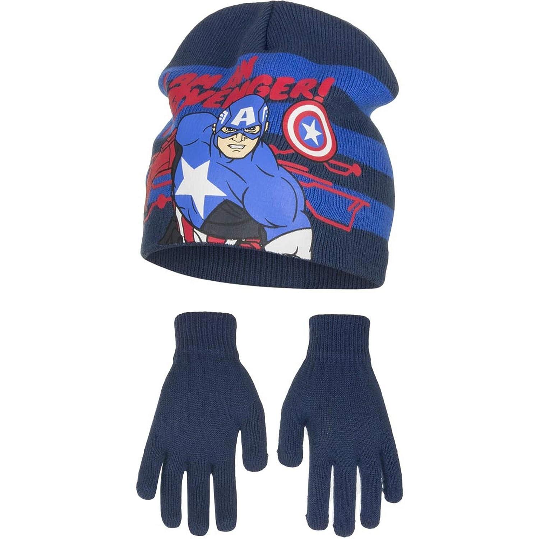 Costume Props Fashion Winter Cotton Batman Cartoon Hat Glove Sets For Baby Kids Boys Warm Children Spiderman Knitted Hat