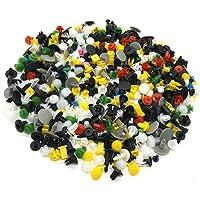 FEZZ 500pcsClip Remaches Negro Universales de Plastico Nylon