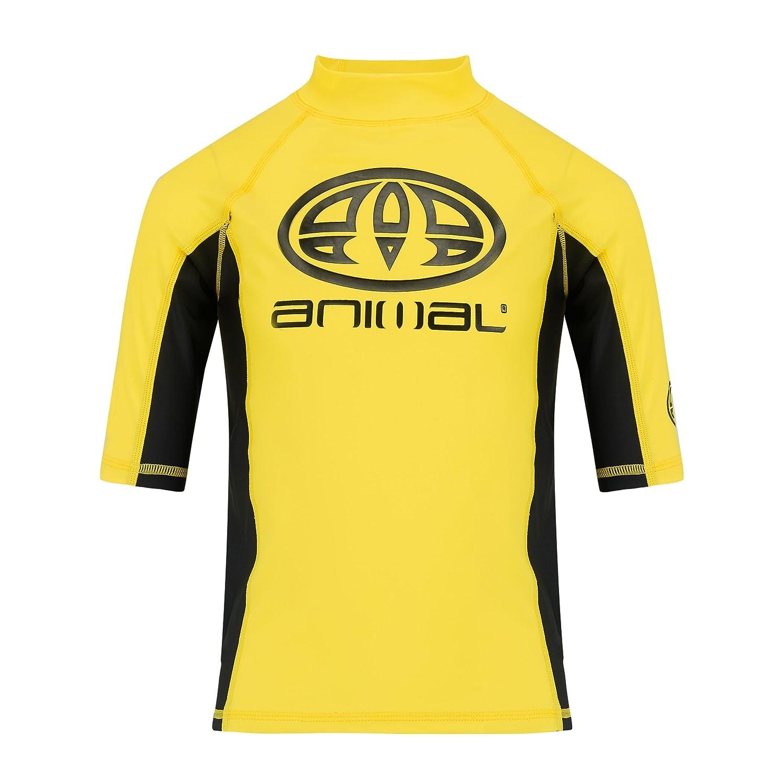 Animal 2018 Junior Boys Hiltern Short Sleeve Rash Vest Dark Navy CL8SN610