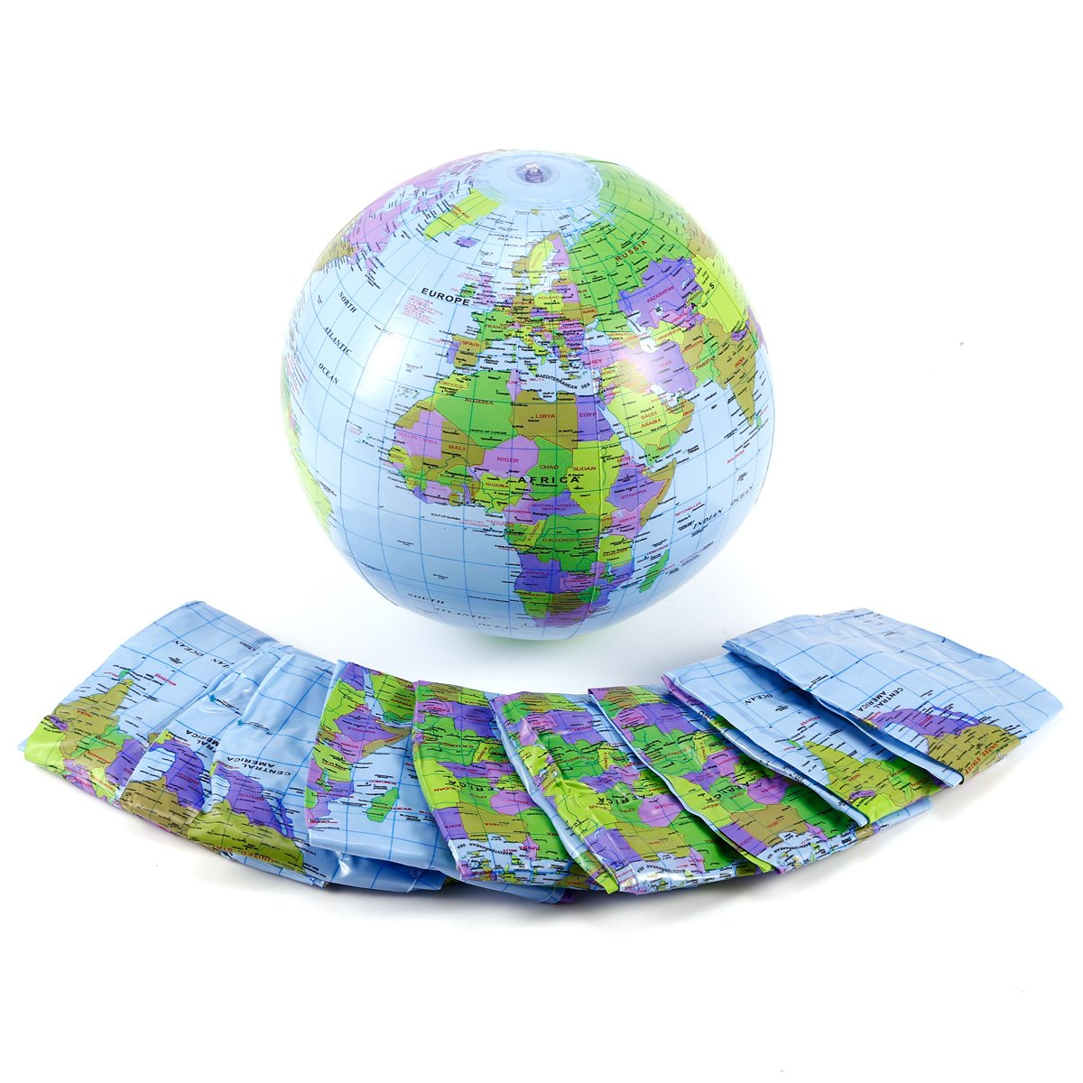10x Inflatable World Earth Globe Atlas Map Beach Ball Geography Education Toy surepromise