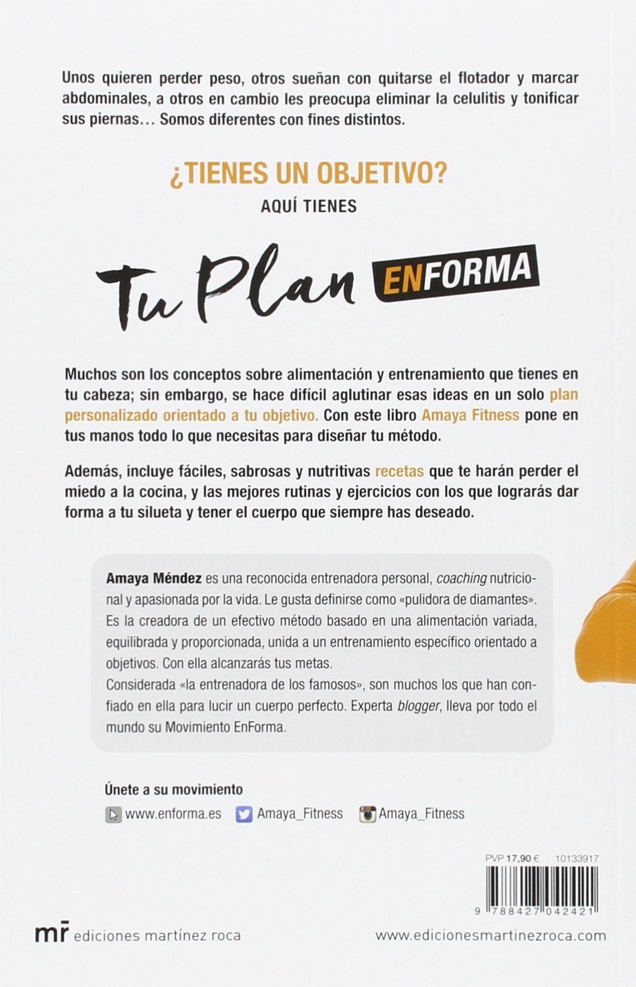 Tu plan EnForma : recetas y entrenamientos para una vida saludable: Amaya Fitness: 9788427042421: Amazon.com: Books