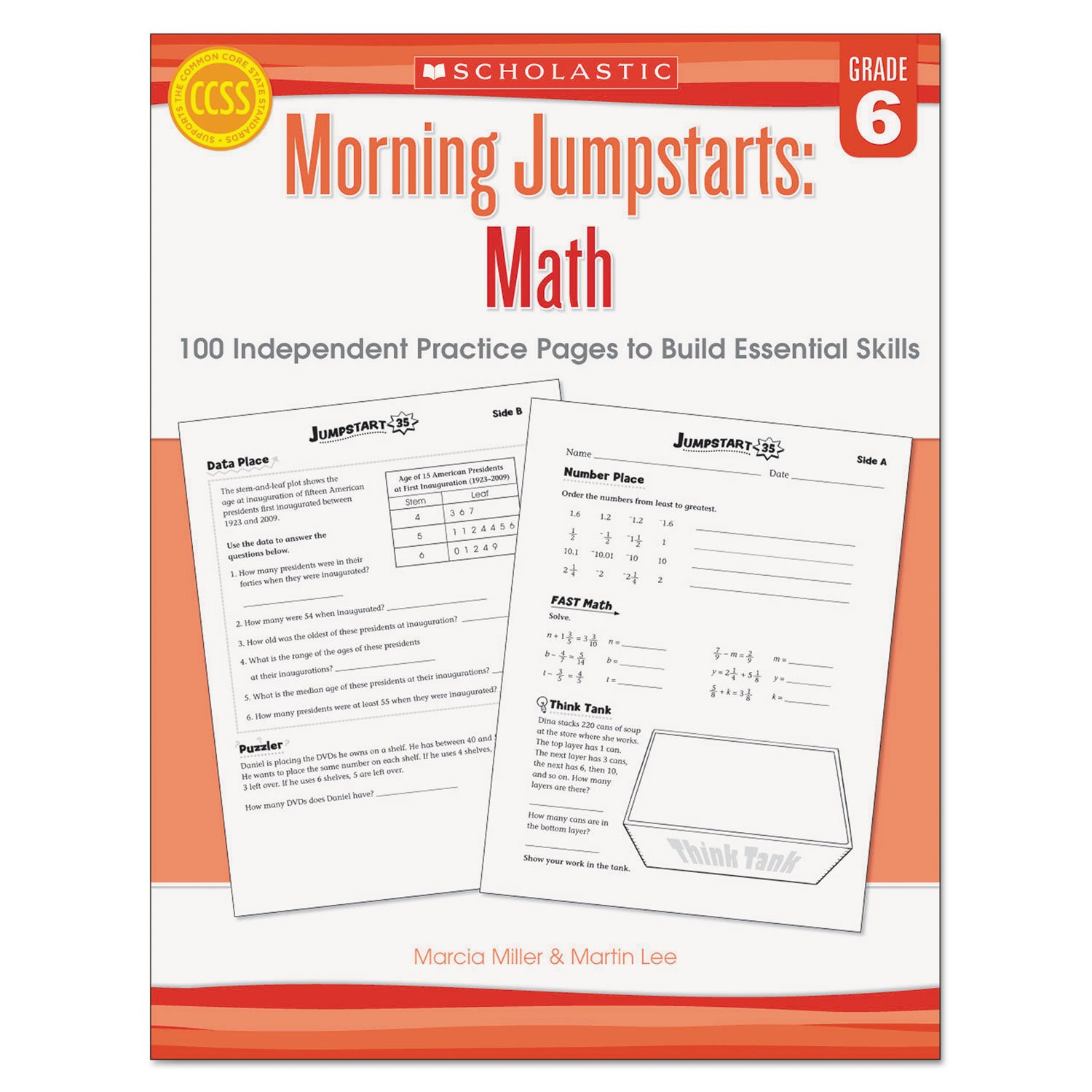Scholastic Morning Jumpstart Series Book, Math, Grade 6 (SHSSC546419)