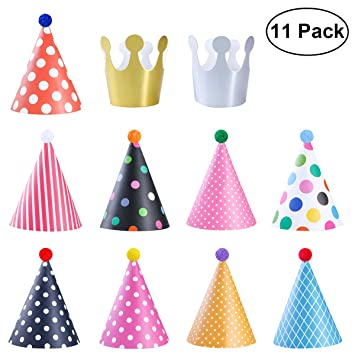 NUOLUX Decoración de sombreros de fiesta de cumpleaños para ...