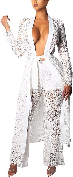 Conjuntos Mujer Verano Encaje con Cinturón Chandal Moda Pantalon ...