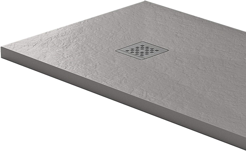 Essence - Plato de Ducha de 100 x 110 cm, Piedra de mármol de ...