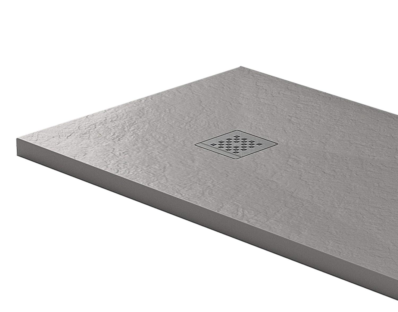 Essence - Plato de Ducha de 70 x 100 cm, Piedra de mármol de ...