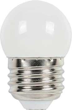 White  S11 Incandescent Round LIGHT BULB  VINTAGE 7 1//2 watt  Med Base Sylvania