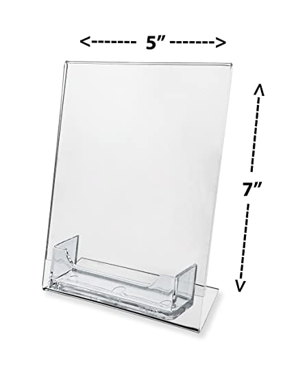 Amazon marketing holders lot of 100 5x7 clear slant back marketing holders lot of 100 5x7 clear slant back table tent ad frame with colourmoves