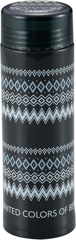 PEARLMETAL Botella de Agua Benetton 300ml Ligero Potable Recta Doble Aislamiento Botella de vacío de Acero Zigzag Benetton UY-6001