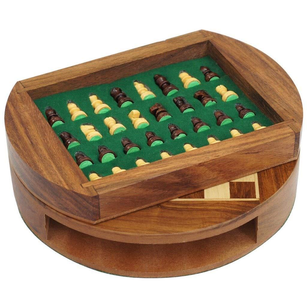ordene ahora los precios más bajos Ajedrez Ajedrez de Madera magnético magnético magnético con cajón de Almacenamiento Diámetro de 9 Pulgadas  Juego de Tablero de ajedrez de Viaje con cajón de ajedrez Juegos de Mesa  edición limitada en caliente