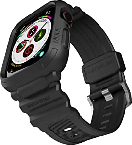 elkson Quattro Pro Series 40mm Made for Apple Watch Bumper case Band iwatch Fall Protection Durable Military Grade Protective TPU Mud Shock Proof Resist Men 40 mm Black