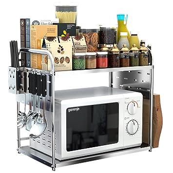 Yxx max Regal küche Edelstahl-Mikrowellen-Ofen-Zahnstangen ...