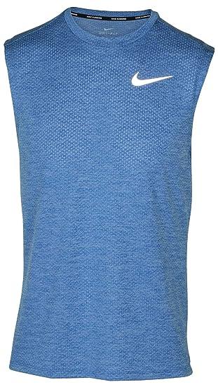 bb8c50fee0ccec Amazon.com  Nike Men s Breathe Printed Running Tank Top (Small ...