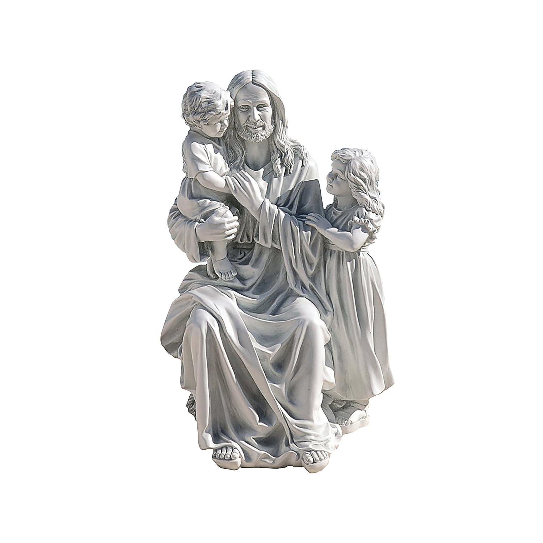 Design Toscano Jesus Loves the Little Children Garden Sculpture