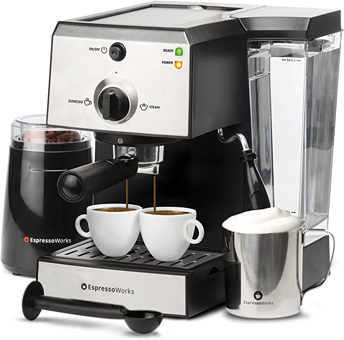 EspressoWorks 7 Pc All-In-One Espresso Machine
