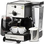Espresso Machine & Cappuccino Maker with Milk Steamer- 15 Bar Pump,