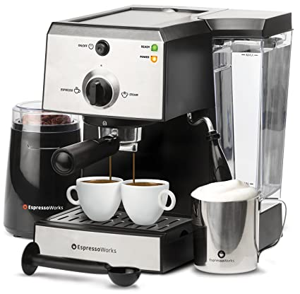 Amazoncom 7 Pc All In One Espresso Machine Cappuccino Maker