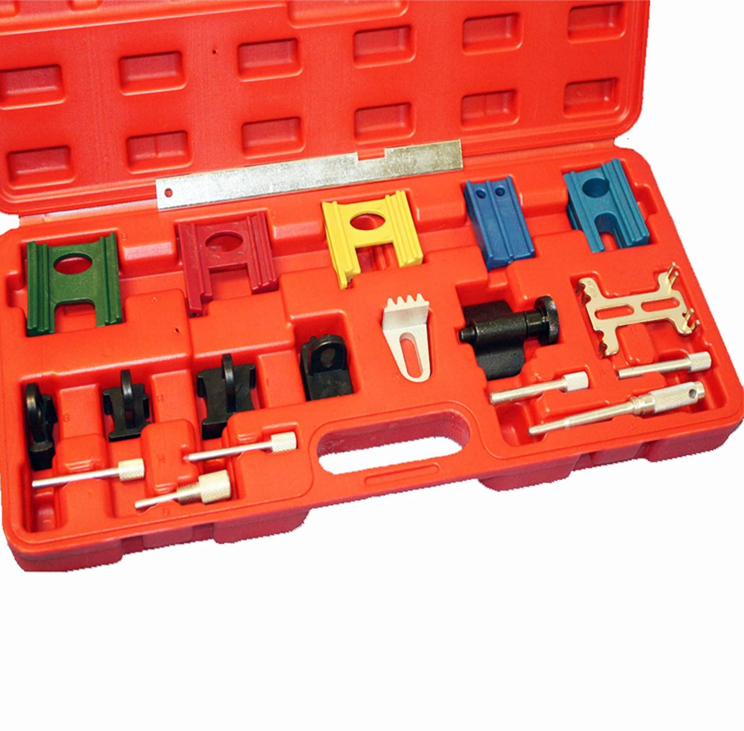 Amazon.com: Car Accessories Twin Timing Cam 19PC Petrol Engine Lock Setting & Flywheel Holding Tool Kit Complete Set With Case - Skroutz: Automotive