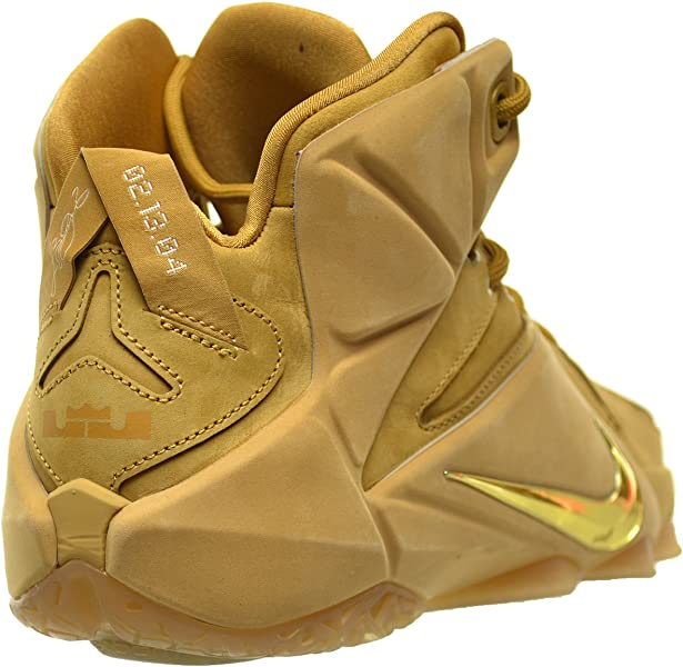 sale retailer ac110 2455e Nike Lebron XII EXT QS Men s Shoes Wheat Metallic Gold-Wheat 744287-700.  Back. Double-tap to zoom