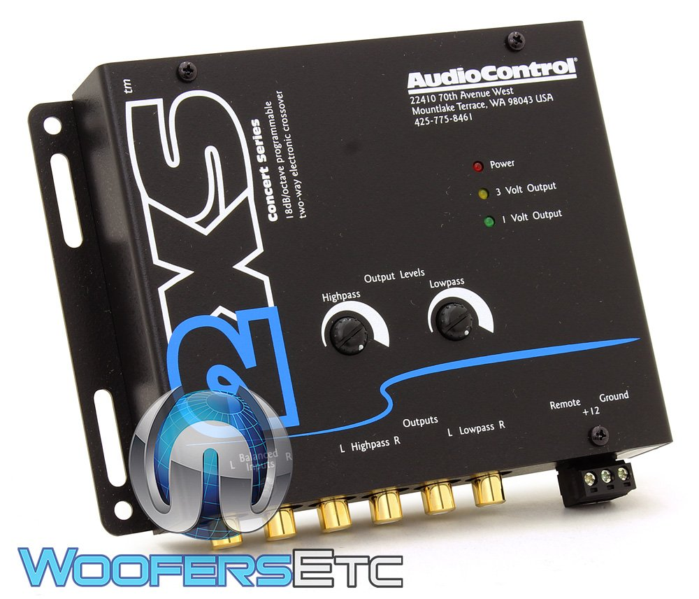 AudioControl 2XS Black 2-Way Electronic Crossover
