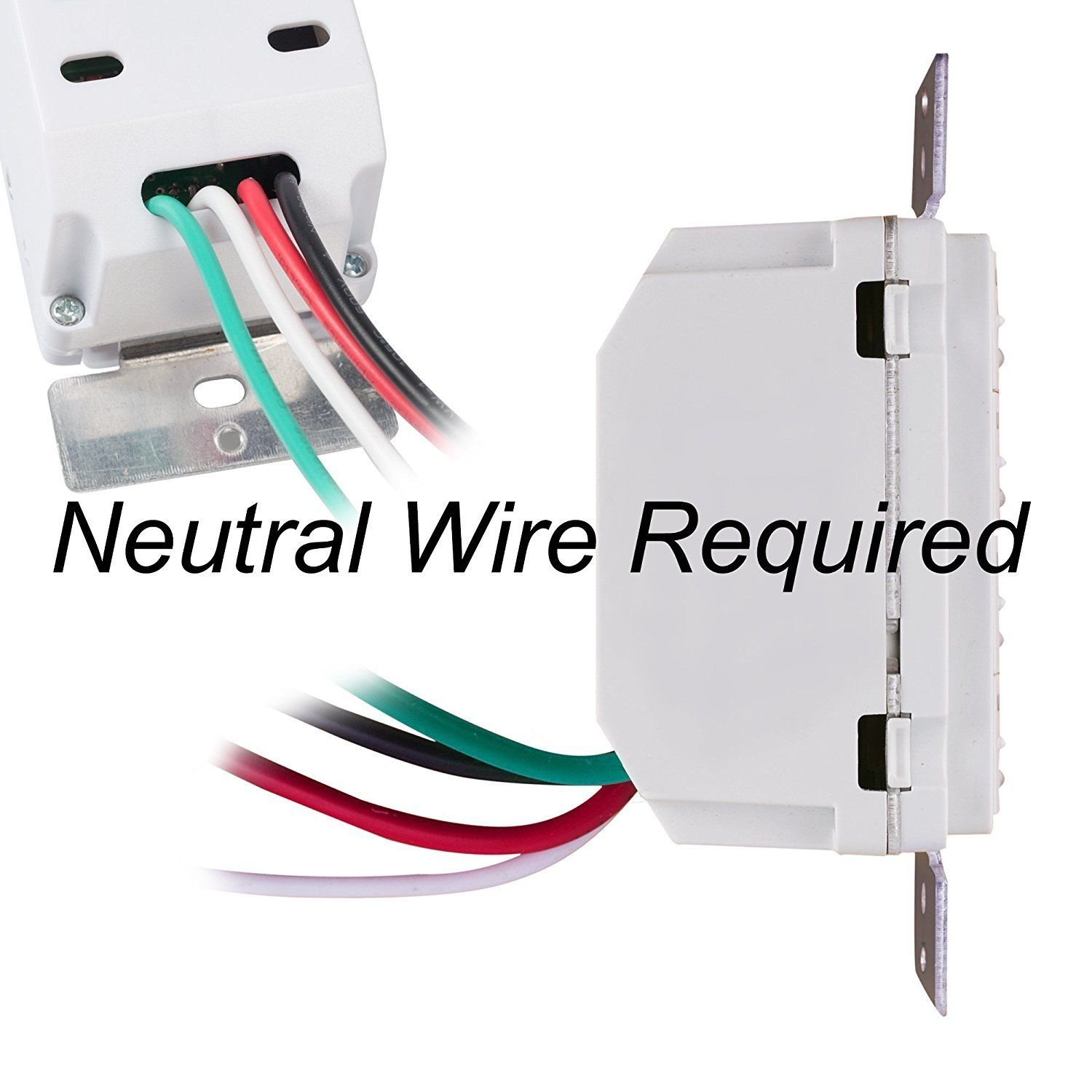 Century 7 Day Programmable In-Wall Timer Switch Digital for Fans ...