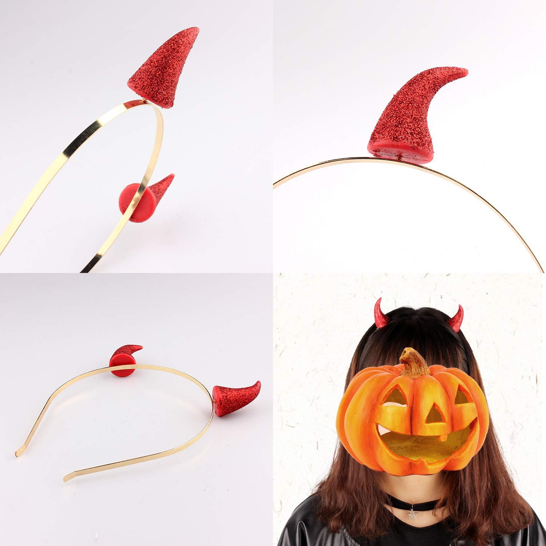 Olen Diadema Cuernos Diablo y Tridente Diablo Halloween ...