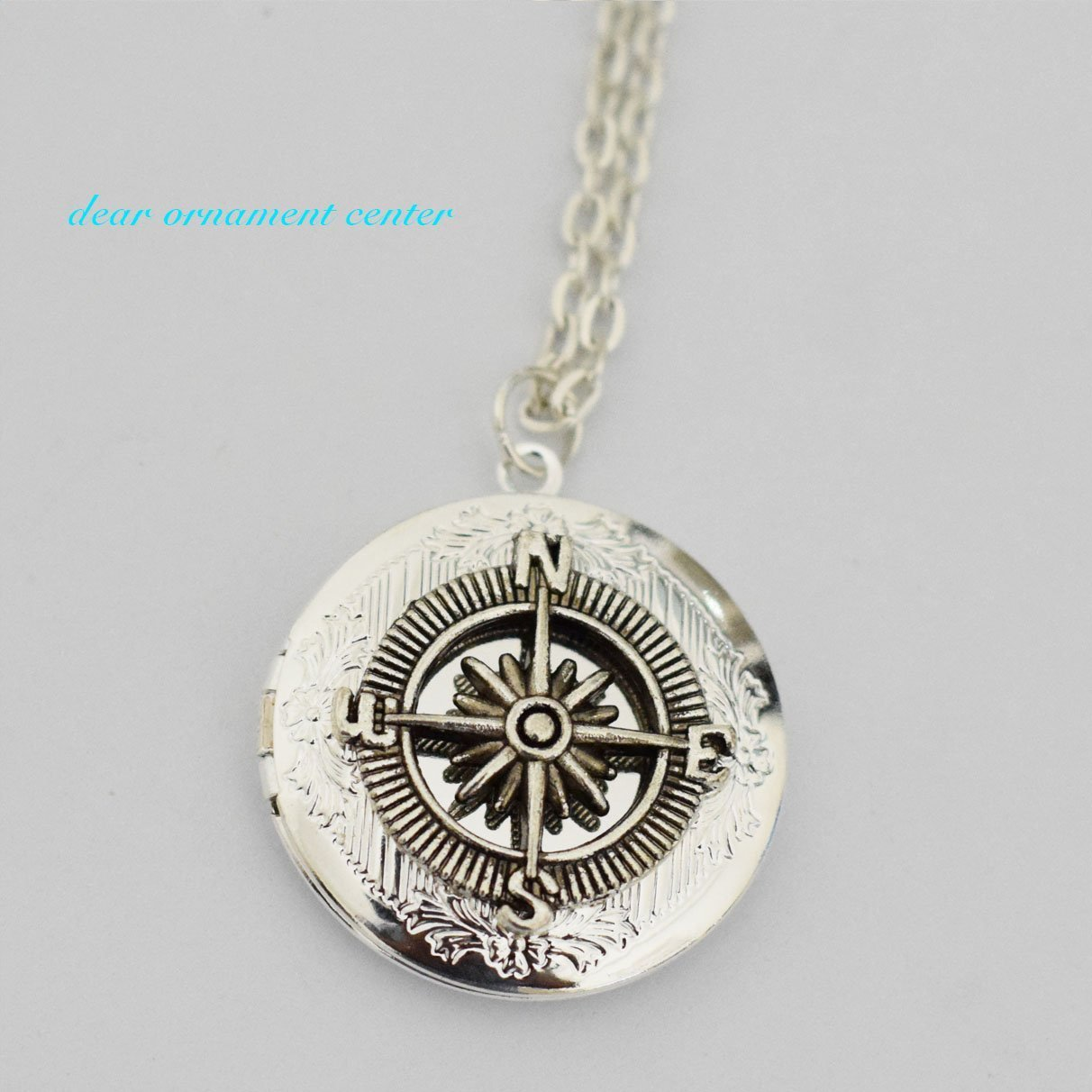 pmr inch sterling sunflower flower necklace silver bling pendant jewelry oval lockets locket engraved secret