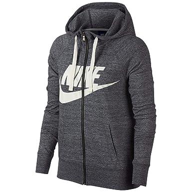 Nike Womens Gym Vintage Sudadera con capucha y cremallera ...