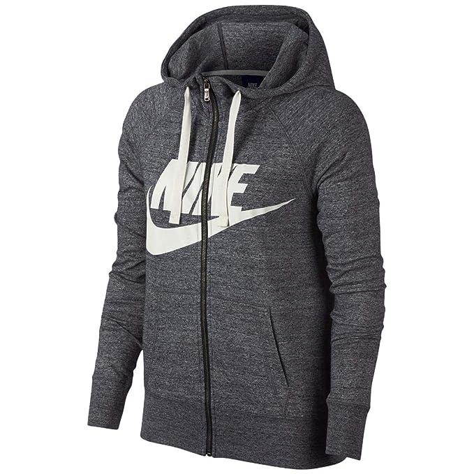Nike Womens Gym Vintage Sudadera con capucha y cremallera completa Carbon Heather / Sail 909097-091 Size Small: Amazon.es: Deportes y aire libre