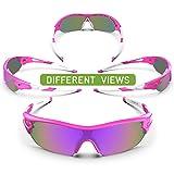 TOREGE Tr90 Flexible Kids Sports Sunglasses