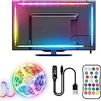 TV LED Strip, TOPYIYI 3M LED TV-achtergrondverlichting, USB LED TV Lights met Afstandsbediening, 5050 RGBW Multi…