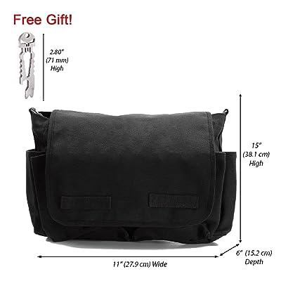 Canvas Messenger Shoulder Bag, with FREE Punisher Tool