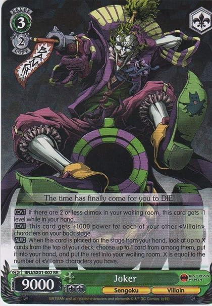 Amazon.com: Weiss Schwarz - Joker - BNJ/SX01-002 RR - Batman ...