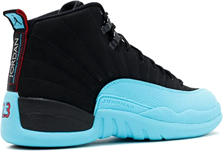 the latest 0b06e 1d4bd NIKE Mens Air Jordan 12 Retro Gamma Blue Leather Basketball Shoes