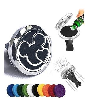 Amazon.com: Fika Mickey Mouse Ambientador de coche con clip ...