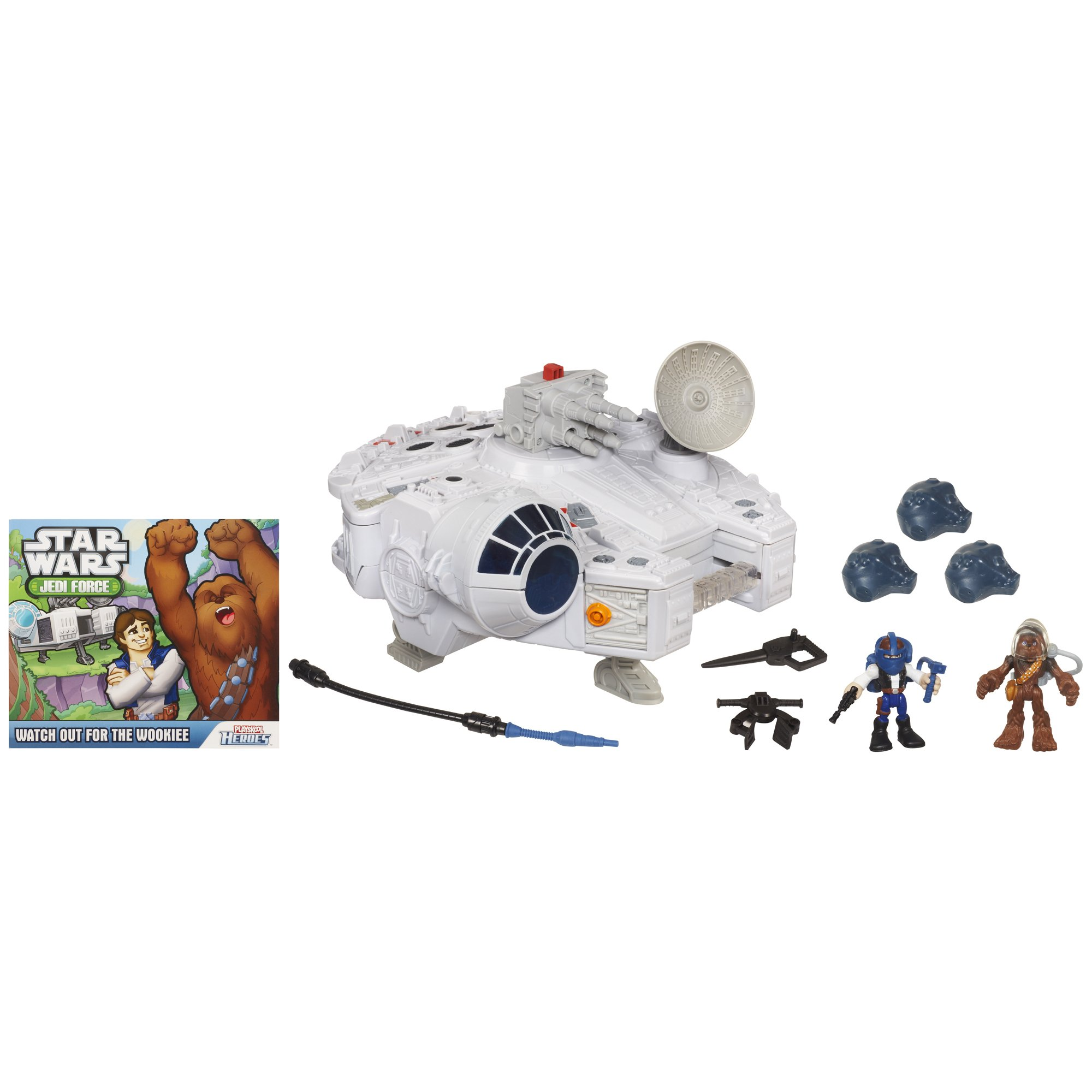 Jedi Force Millenium Falcon with Han Solo and Chewbacca by Star Wars (Image #4)