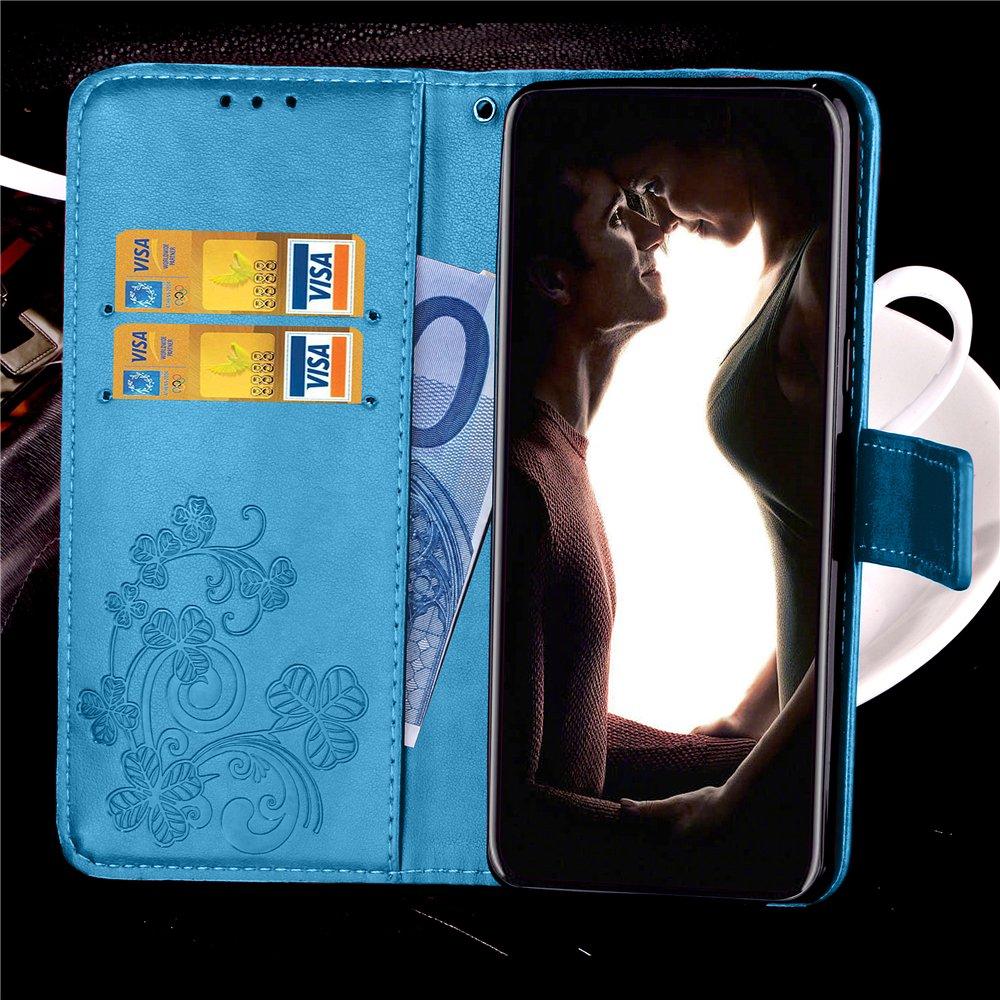 Caler Tasche Kompatibel f/ür iPhone 6S//iPhone 6 H/ülle Au/ßenseite aus Echt Leder Innenseite aus Textil Magnet Schutz Case St/änder mit Kartenfach Ultra Slim Cover Bookstyle Klappbar