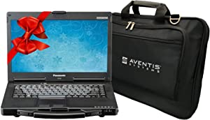 Panasonic Toughbook CF-53 Rugged Laptop PC, Intel i5-2520M 2.5GHz, 16GB RAM, 500GB SSD, Win 10, Touchscreen, Laptop Bag (Renewed)