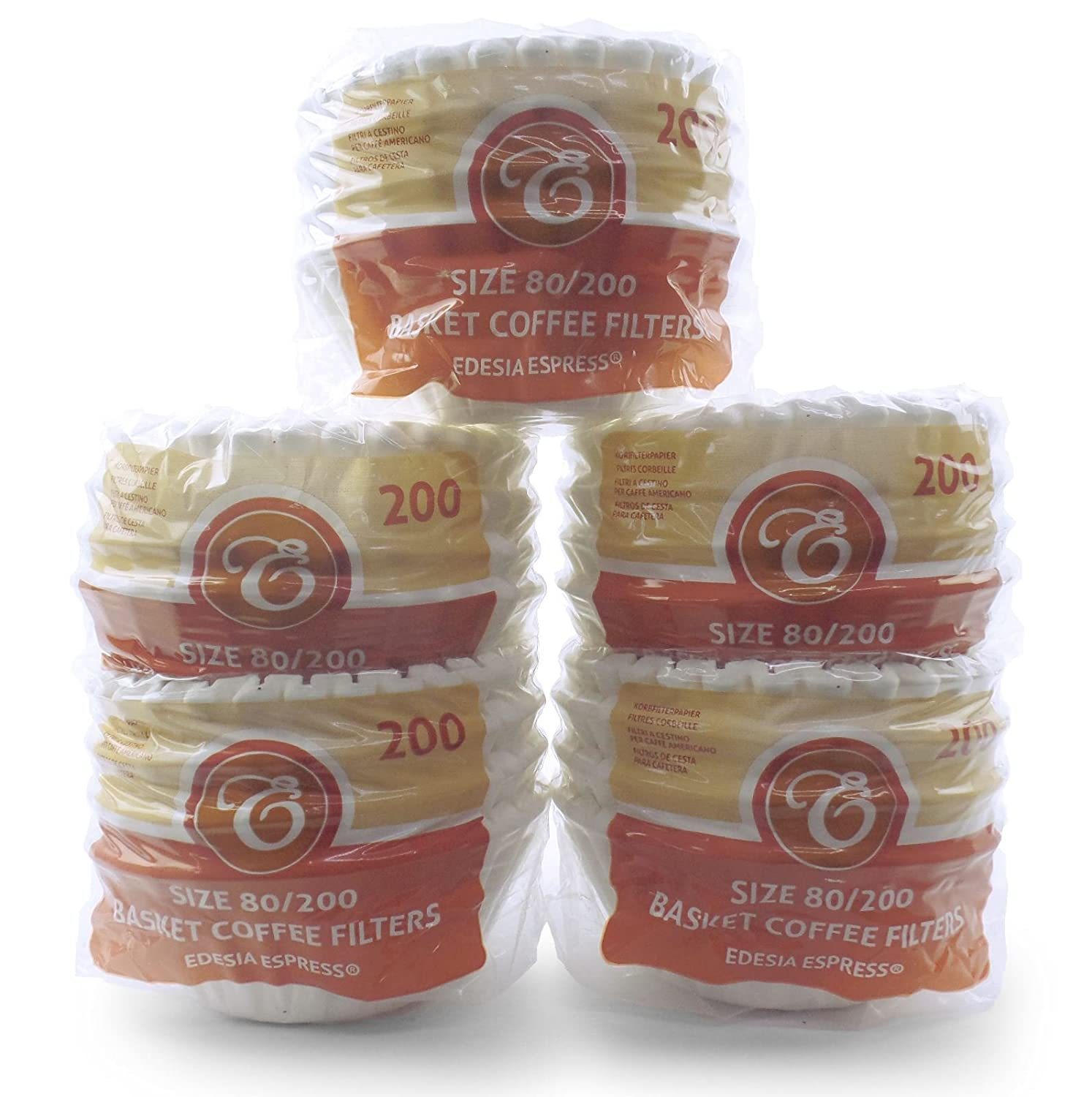 1000 x 2 Pint/8 to 12 Cup Basket Coffee Filter Papers by EDESIA ESPRESS