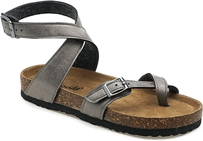 Outwoods Bork-39 Taupe Womens Ankle Strap Size 8M