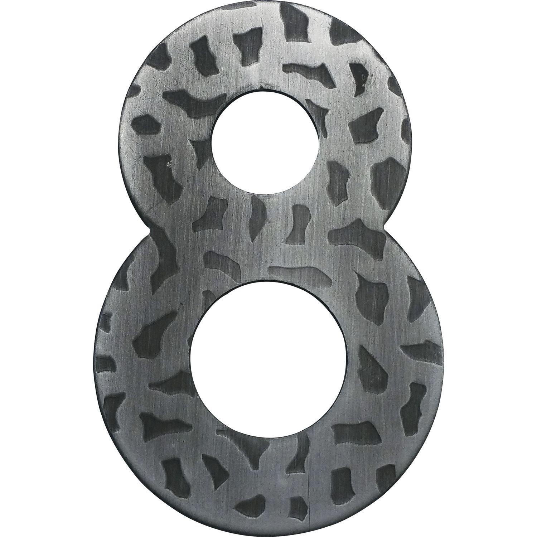 Hausnummer Ziffer 8| Schmiedeeisen antik 1 St/ück H/öhe: 120 mm schwarz verzinkt