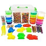 f9b566c3d Big Crystal DIY Slime Kit for Kids - 15 Colors Super Slime Supplies Pack - Ultimate  Slime Making Kit for Girls Boys - Make Your Own Slime Clear Crunchy ...