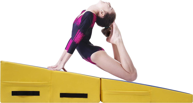 CCLIFE Colchoneta Plegable de Espuma para Gimnasia Yoga Deportiva Yoga estrilla Triple Plegable 180/60/5cm: Amazon.es: Deportes y aire libre