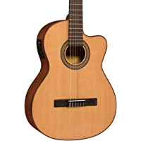 Deals on Lucero Spruce/Sapele Cutaway Acoustic-Electric Classical Guitar