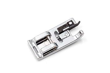 vhbw Accesorio Repuesto máquina de Coser, prensatelas overlock con Parada para su máquina de Coser
