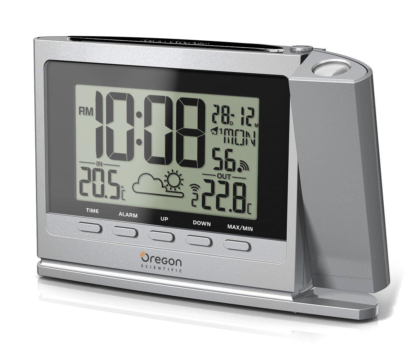 Oregon Scientific TW369 - Reloj proyector con estación meteorológica ...